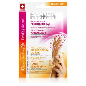 Tratament Profesional Maini si Unghii, 1 Plic Scrub Maini si 1 Plic Ser Masca Maini Eveline Cosmetics