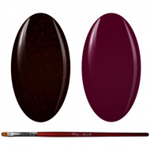 Kit Geluri Color + Pensula Gel Unghii, Cod K2GP-53G/75