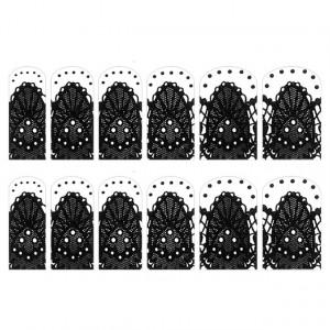 Abtibilde Unghia Intreaga 12 Buc, FD011, Stickere Unghii
