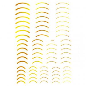 Abtibilde Unghii cu Motive Decorative Aurii 554, Stickere Unghii