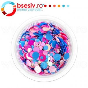 Confetti Unghii, Model 'Buline', Efect Metalizat, Cod CU-07