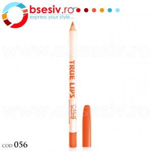 Creion Contur Buze True Lips, Cod 056, Brand Menow-Generation II, Ruj Profesional Rezistent la Apa