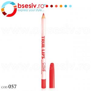 Creion Contur Buze True Lips, Cod 057, Brand Menow-Generation II, Ruj Profesional Rezistent la Apa