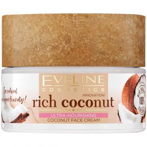 Crema Față Regenerare Ten Ultra Hranitoare Rich Coconut Vitamin Bomb Eveline