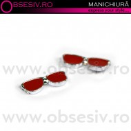 Decor Ornamental Unghii, RED SUNGLASSES (Ornamente Nail Art Unghii)
