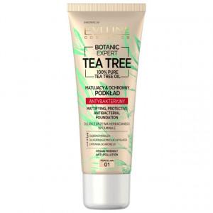 Fond de Ten cu Protectie Antibacteriana Vegan 100% Pure Tea Tree Oil Eveline Cosmetics 01 Porcelain