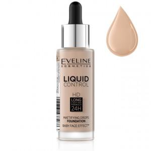 Fond De Ten Eveline Cosmetics Liquid Control, 030 Sand Beige