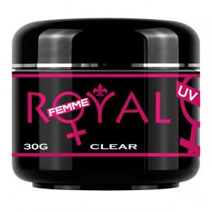 Gel UV Clear Transparent 3 in 1 Royal Femme, Baza Constructie Finish, 30 ml.