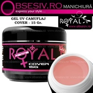 Gel UV Cover (Gel Camuflaj sau Constructie) 15ml - Royal Femme