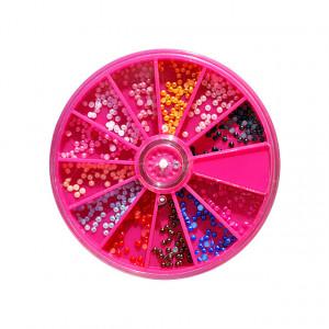 Jumatati de Perle Multicolore Unghii, Disc Nail Art