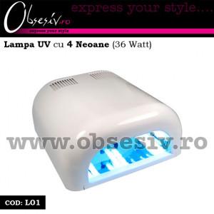 Lampa UV unghii gel cu 4 neoane 36 Watt - L01