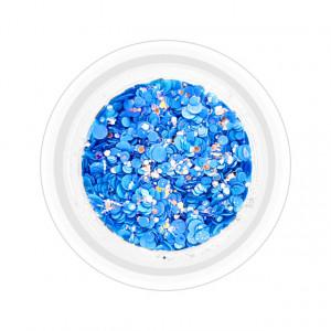 Paiete Unghii cu Sclipici Neon Cod NG-06 Culoare Albastru