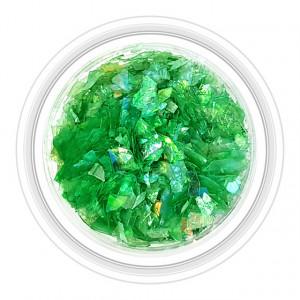 Paiete Unghii Efect de Gheata Culoare Verde Crom, Cod PG-VC 11