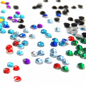 Pietricele Unghii Multicolore Diametru Ø 2mm, Decoruri Unghii de Tip Nail Art