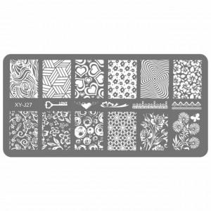 Stampile Unghii, Suport Metalic, XY-J27, Matrite Unghii Gravate Adanc