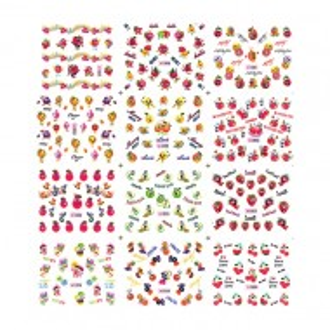 Stickere Unghii pe Baza de Apa (12 seturi) 1857 - 1867 (Abtibilduri Unghii - Tatuaje Unghii - Nail Stickere - Water Nail Art)