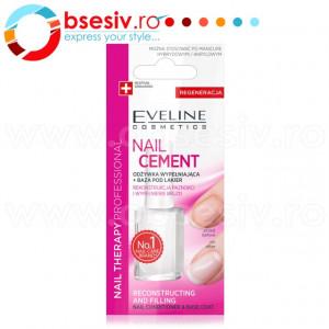 Tratament Profesional Reconstruire si Nivelare Unghii, Nail Cement Eveline Cosmetics