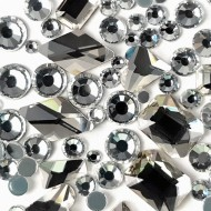 Cristale Unghii Marimi si Forme Diferite, Reflexii Argintii Transparente