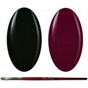Kit Geluri Color + Pensula Gel Unghii, Cod K2GP-73/75