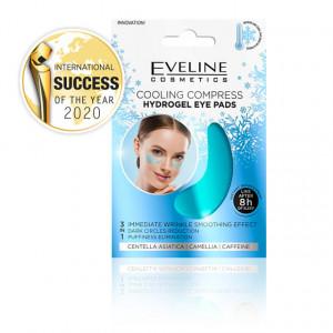 Comprese Racoritoare Ochi cu Hidrogel 3in1 Efect de Netezire a Ridurilor Eveline Cosmetics.