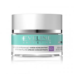 Crema Concentrata Reparare si Umplere Riduri Hyaluron & Collagen 50+ Eveline Cosmetics
