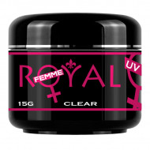 Gel UV Clear Transparent 3 in 1 Royal Femme, Baza Constructie Finish, 15 ml