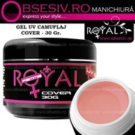 Gel UV Cover (Gel Camuflaj sau Constructie) 30ml - Royal Femme