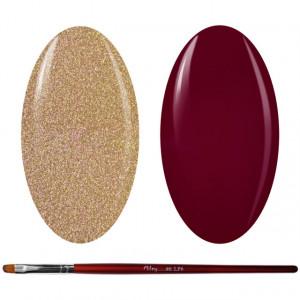 Kit Geluri Color + Pensula Gel Unghii, Cod K2GP-41G/70