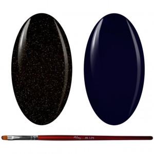 Kit Geluri Color + Pensula Gel Unghii, Cod K2GP-54G/72