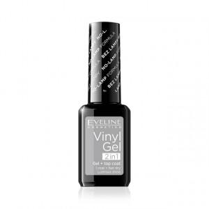 Lac Unghii Eveline Cosmetics Vinyl Gel 2 in 1, No 201