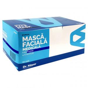 Masti Medicale Protectie cu 4 Straturi Dr. Mayer Purple Edition, Cutie 50 Bucati