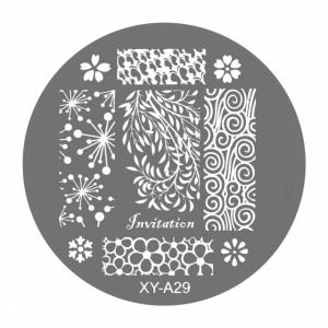 Matrite Stampile Unghii, Cod XY-A29, Accesorii Profesionale Manichiura
