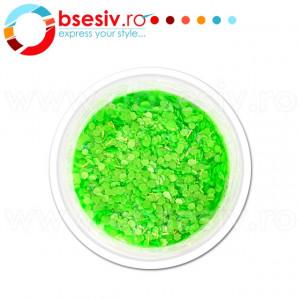 Paiete Unghii cu Holograme Neon Cod NH-05, Culoare Verde
