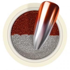 Pigment Pudra Chrome Dual Color, Culori Argintiu Visiniu