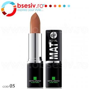 Ruj Pigmentat Mat Cu Aloe Vera, Cod B-05, Producator Bell, Gama Royal MAT, Rujuri Profesionale Make-Up