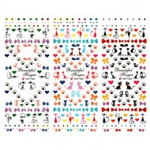 Stickere Unghii pe Baza de Apa, 3 Seturi, HOT 094 - HOT 096