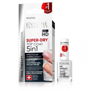 Top Coat 5in1 Super Dry cu Tratament Eveline Cosmetics