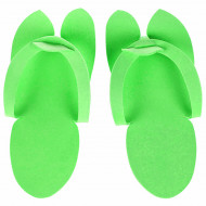 Slapi Unica Folosinta Pedichiura, Culoare Verde