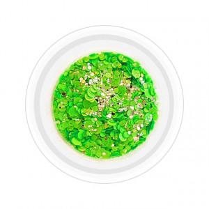 Paiete Unghii cu Sclipici Neon Cod NG-07 Culoare Verde
