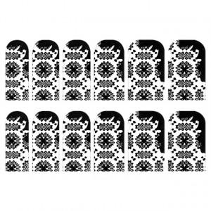 Abtibilde Unghia Intreaga 12 Buc, FD016, Stickere Unghii