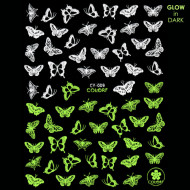 Abtibilde Unghii Glow in Dark Florescente in Intuneric Butterfly CY-009