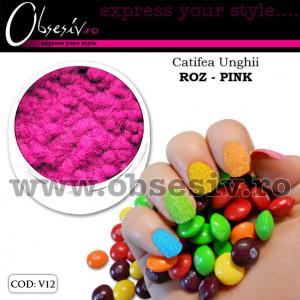 Catifea Unghii V12 - Roz Pink (Velvet Nails)