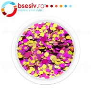 Confetti Unghii, Model 'Buline', Efect Metalizat, Cod CU-01