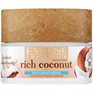 Cremă Față Stralucire Sanatoasa si Hidratare Ten 'Rich Coconut Mineral Cocktail' Eveline