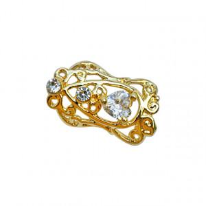 Decor Metalic Unghii Auriu, Decoratiuni Manichiura