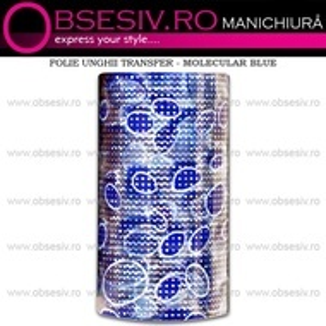 Folie Decorativa Transfer Manichiura, Molecular Blue