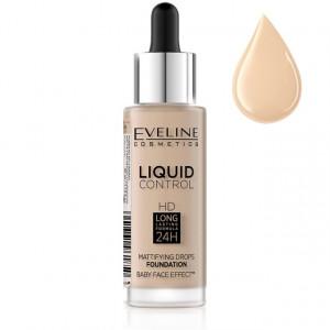 Fond De Ten Eveline Cosmetics Liquid Control, 005 Ivory