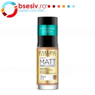 Fond De Ten Eveline Cosmetics Matt Pro Expert Anti Shine System, 400 Warm Beige