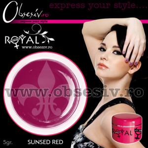 Gel colorat unghii Royal Femme SUNSET RED (Geluri Profesionale Unghii)