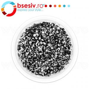 Glitter Leopard Unghii, Culoare Black/White, Cod GLU-312241, Accesorii Nail Art Paiete Glitter Leopard